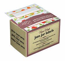 Box 100 Kitchen Craft Jam Jar Preserve Labels Self-Adhesive jellies marmalade