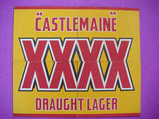 4 Beer Coasters Bar Mats ~ CASTLEMAINE XXXX Draught Lager ~*~ Milton, AUSTRALIA