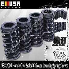 CRX 88-91 Honda Civic 88-00 Coilover Lowering Coil Springs Set Suspension BLACK