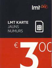 LATVIA & EUROPE - LMT PREPAID CELL GSM PHONE SIM Card 3€ credit CALL TEXT DATA