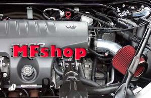 Black Red For 1995-2005 Pontiac Bonneville 3.8L V6 Air Intake System Kit