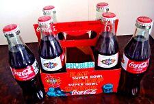 Coca-Cola NFL Super Bowl XXXII San Diego CA Coke Bottles 6-Pack Broncos Packers