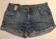 MUDD Denim Jean Shorts Juniors Size 7 SHORT SHORTS 5 POCKET