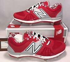 New Balance Mens Size 11 Low Metal Baseball Cleats Red Silver Digital Camo