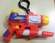 Vintage Super Soaker water gun KEYCHAIN Keyring mini squirt toy water gun Red