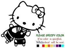 "Hello Kitty ROLLER Skate Adhesive Vinyl Decal Sticker Car Truck Window Bumper 6"""