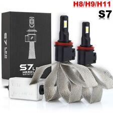 H8 H9 H11 6000K 60W LED Fanless Headlight Kit Single Beam Light Bulbs White S7