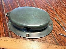 Vintage Wilcox Crittenden Cast Bronze/Brass Oval Anchor Chain Pipe, Nice Patina!