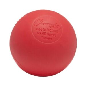 Champion Sports Official Size Rubber Lacrosse Ball, Red (Single)