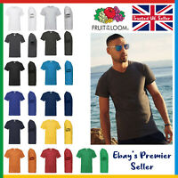 Mens Plain V-NECK T-Shirt • Fruit of the Loom Valueweight Tee • Value Blank T