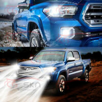 4pc LED Headlight Low + Fog Light Conversion Kit for Toyota Tacoma 2016 to 2020