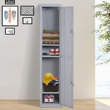 More details for vinsetto 1.8m locker office cabinet storage cold rolled steel w/ shelves