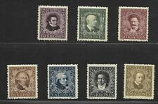 Austria 1922 Set of 7 Scott B50-B56 Composers Mint MNH VF! |
