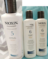 Nioxin #5 CLEANSER Shampoo 10.1oz & 2 - #6 SCALP THERAPY Conditioner 5.07oz Hair