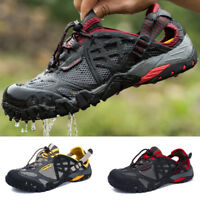 Mens Summer Casual Water Shoes Lightweight Slip On Walking Sneakers Mesh Shoes