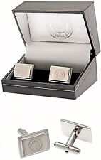 LEICESTER CITY FC STAINLESS STEEL MENS EXECUTIVE FOOTBALL CUFFLINKS LCFC GIFT