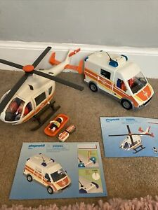 Playmobil Children's Hospital - Ambulance Set 6685 And 6686 Flashing Siren Sound