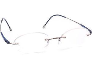 Silhouette Eyeglasses 7718 10 6052 Titan Gray/Blue Rimless Austria 48[]18 135