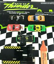 UNOPENED 1:64 Days of Thunder Diecast 5 Car Set w/Launcher & Fuel Bottle