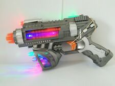"10"" SUPERGUN LED Light-up Toy Gun Pistol w/ Flashing, Sound & Vibration Effects"