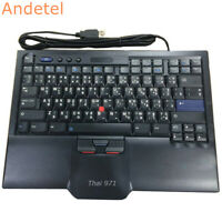 Original IBM ThinkPad SK-8845 2015 USB Keyboard Thai English With Pointing Cable