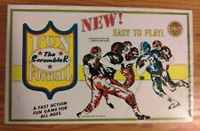 "1973 GREAT GAMES ""FUN FOOTBALL - THE SCRAMBLER"" COMPLETE."