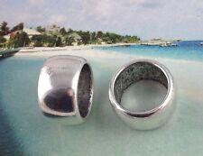 5Pcs Tibetan Silver Smooth Barrel Scarf Rings A12591
