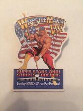 "WWF Wrestlemania VII Pin 3"" Rare Vintage Hulk Hogan 7 WWE WCW NWO 1991 Button"