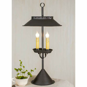 Primitive Large Double Candle Desk Lamp.Colonial Authorized Dealer FREE SHIPPING
