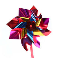10 Pcs Plastic Windmill Pinwheel Wind Spinner Kids Toy Lawn Garden Party Decor