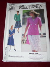 🌺 SIMPLICITY #9509-LADIES DOUBLE BREASTED TOP or JACKET & SKIRT PATTERN 16-24FF
