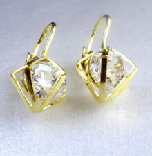 Yellow Gold Simulated Beauty Fashion Earrings
