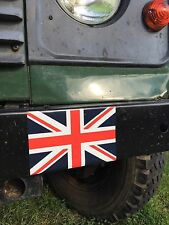 2X MILITARY ARMY LAND ROVER UNION JACK FLAG STICKERS WOLF WIMIK SNATCH DEFENDER