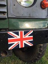 2X militaire armée Land Rover Union Jack Drapeau Autocollants Loup wimik arracher Defender