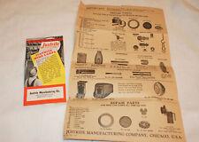 Vintage Justrite Mine Lamps Brochures