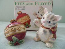 Fitz & Floyd Kristmas Kitty Salt & Pepper Shakers