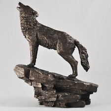 Howling Wolf Figure Cold Cast Bronze By Beauchamp Bronze