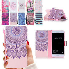 PU Leather Case Flip Folding Stand Phone Case Cover for Huawei P8 P9 Honor 8 5C