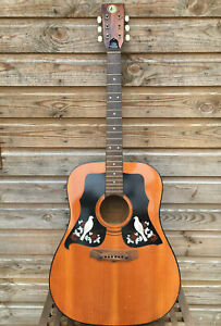 Vintage KAY K 550 Dreadnought Made ITALY 6 Steel String Acoustic Guitar 70s 60s
