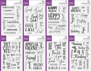 Crafter's Companion Photopolymer Stamp - Mix & Match Sentiments