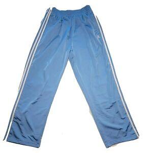 Vintage Adidas Tear Away Warmup Pants Large Lt Blue Basketball Track Gym Workout