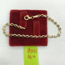 Gold Authentic 18k saudi gold tri color bracelet,,