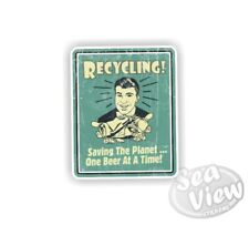 Retro Recycling Funny Joke Car Van Bedroom Wall Window Stickers Decal Sticker