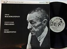Rachmaninov 24 Preludes Vol 1 - Fiorentino LP 1970 UK Revolution RCB11 Stereo EX