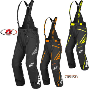 2020 FXR Men's Mission FX Pant Bibs Snowmobile Black/Hivis 3XL