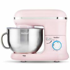 VonShef Electric Food Cake Stand Mixer Kitchen Mixing Bowl Whisk Beater Pink New