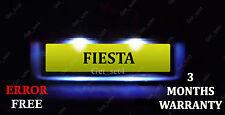 Ford Fiesta Mk 7 Mk7 número de licencia Placa Led Light Bulbs-Xenon Blanco