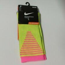 NWT NIKE Performance Cushioned Crew Soccer socks 1 pair men women Yellow