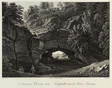 SÄCHSISCHE SCHWEIZ - Kuhstall - Frenzel - Kupferstich 1808