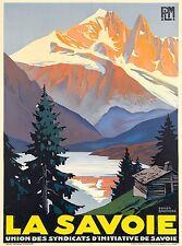 La Savoie Auvergne-Rhône-Alpes France PLM Vintage Travel Advertisement Poster